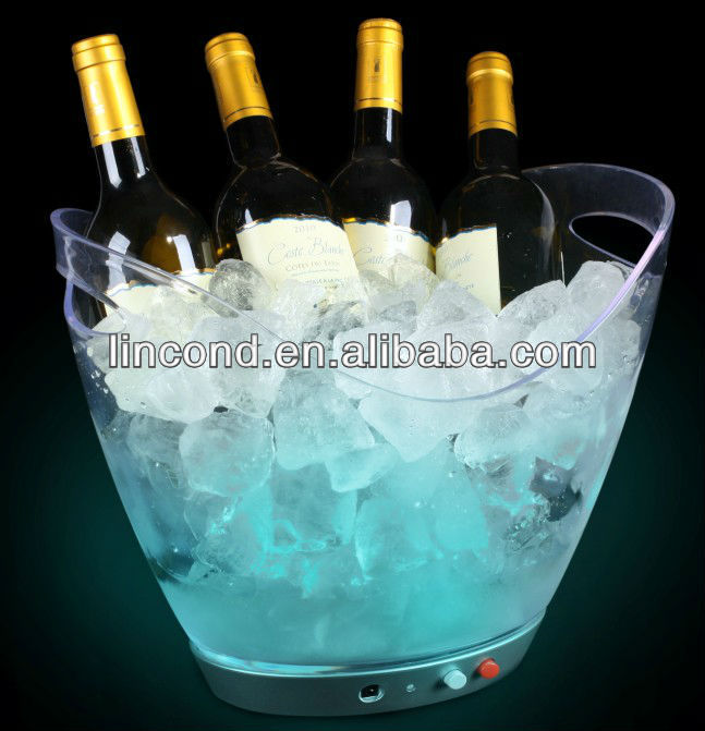 5L Carnival favor plastic glow LED ice buckets