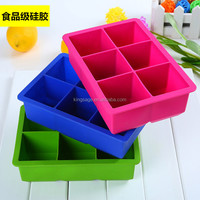 square Ice Trays Ice molds/large ice cube tray/Square Colorful Flexible Durable Silicone Ice Cube Tray