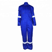 Blue Zipper Front Heavy Cotton Hi Vis Wokwear Clothing <strong>Safety</strong>