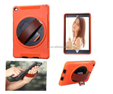 New Flexible Hand Hold Belt Leather Case for iPad 234 Air Air 2 , 360 Degree Rotating Leather Cover Tablet PC Case