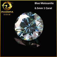 diamond per carat price round brilliant cut synthetic 6.5mm colored moissanite stone