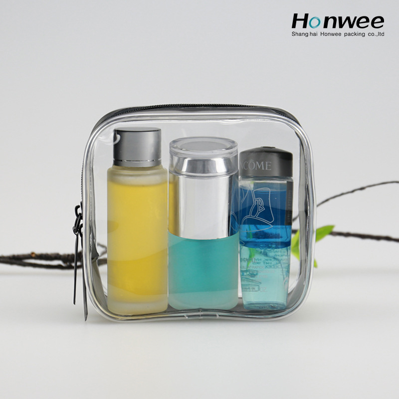Small Superior quality pvc cosmetic bag clear pvc zipper bag