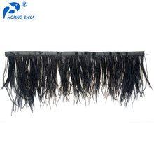 China Wholesale Feather Decorations Fringe Free Sample Customized OEM Ostrich Feather Trim