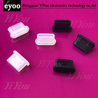 USB-C silicone usb type-c plug cover Rubber type c Female Anti Dust Plugs Stopper Cover