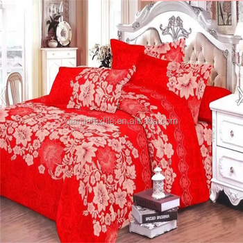 Microfiber printed polyester fabric for bed sheet