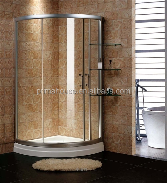 Indoor portable glass shower Aluminium frame shower enclosure tempered bath glass room