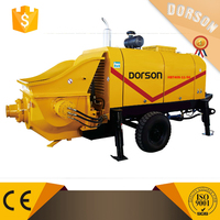 40m3/h small portable trailer mounted concrete pump HBT40S-11-56 with famous diesel engine exported to colombia ,peru