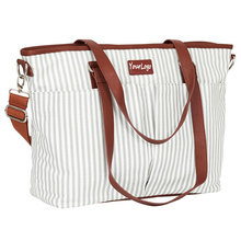 Stylish Stripe Baby Mother Bag With Changing Pad&Stroller Straps