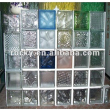 glass brick Qingdao Rocky high quality low price clear and colored decorative glass wall brick