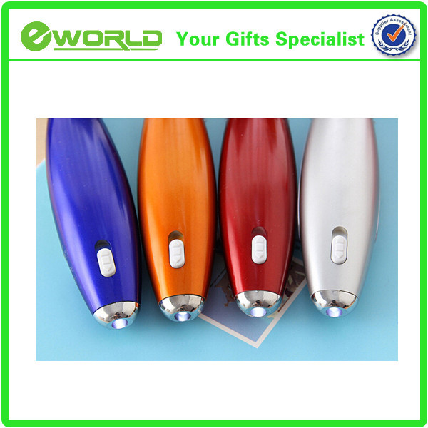 Promotional multi function Eco-friendly LED hanging Ball point Pen