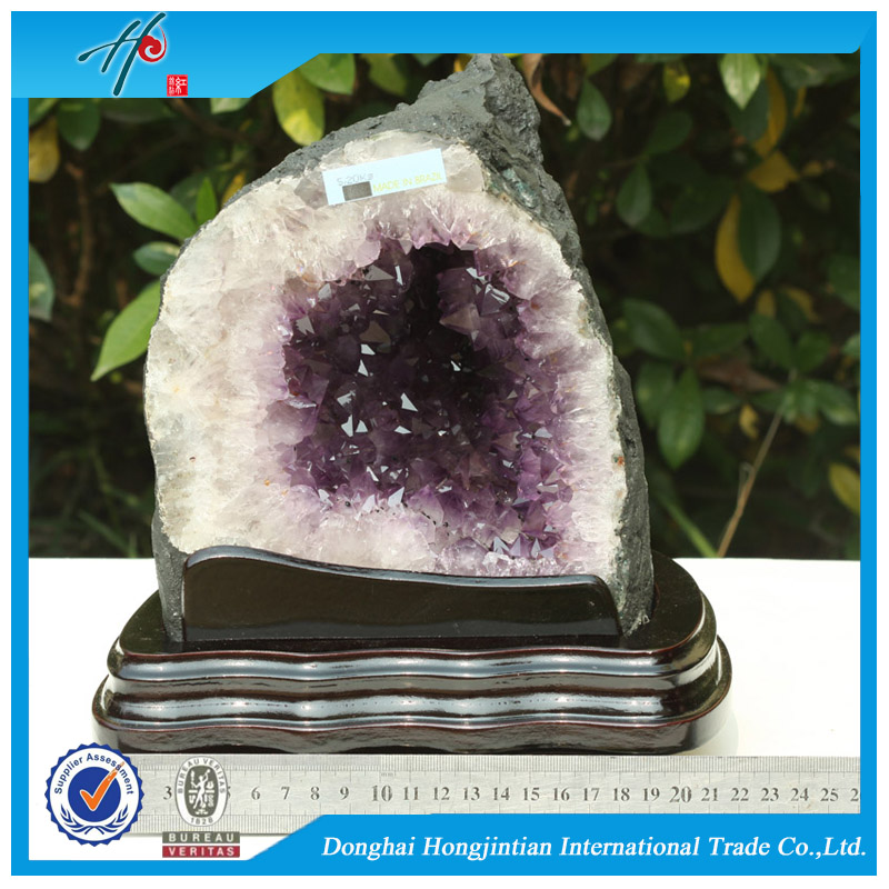 amethyst cathedral crystal brazil fantasy amethystpurple crystal specimen for ornaments geode
