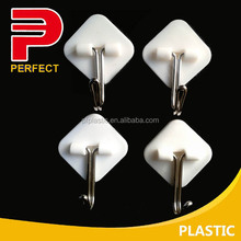 strong hold self adhesive plastic wall hanger hook