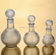 Fancy decorativel empty mini glass bottle for wine prices / wholesale glass bottles