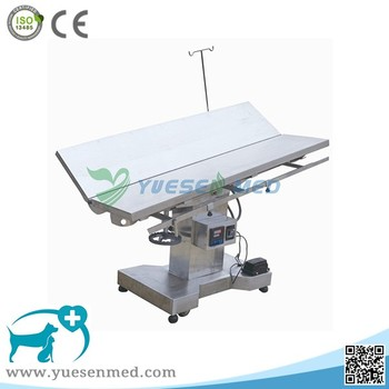 electric rise and down sheep dog cat veterinary clinic stainless steel vet table