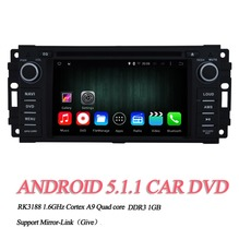 "OEM A9 Quad core Pure Android 5.1.1 HD 800*480 16GB Mirror-Link 6.2"" Car DVD Player GPS Stereo Radio For Chrysler Sebring"