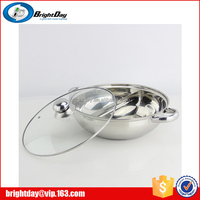 China hot pot stainless steel two tastes soup pot restaurant hot pot