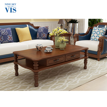 Home Decor Large Square Wood Coffee Table/Traditional Coffee Tables