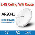 Factory Made 2.4G AR9341 Wireless Ceiling Mobile Wifi Router Network Access Point AP with Inner Antenna for Hotel Restaurant