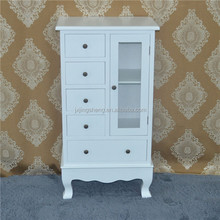 Shabby Chic Antique Solid Wood White wooden Display cabinet for living room