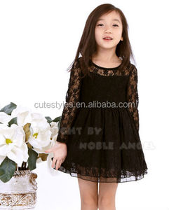 Cotton Lace Dress Pink Flower Dresses Kids Spring Clothes Girls Summer Dresss For Party Teenage Girls Clothes GD40409-06