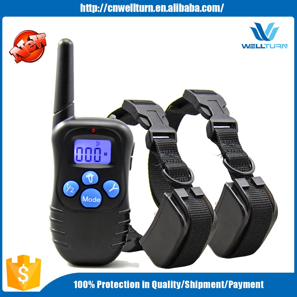 2016 Electric Wireless Waterproof Recharegable Remote Control Electric Shock Vibrate E Pet Dog Training Collar