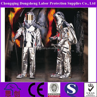 1000 Degree Fire Proximity Suit complete with reflective face shield