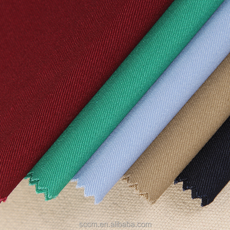 polycotton 65/35 twill 2/1 fabric for work wear