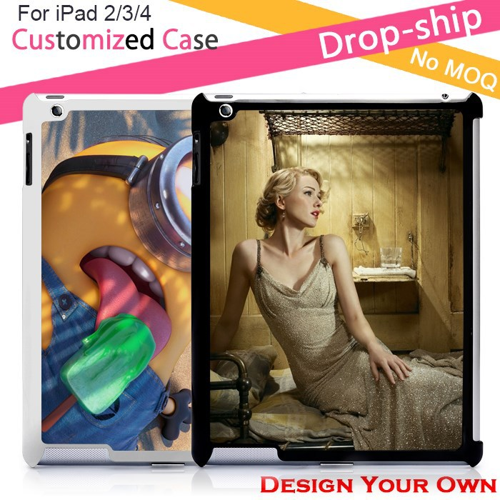 OEM 2D sublimation printing case for iPad 2/3/4
