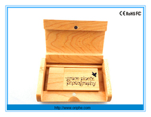 China factory wholesale gift female 1gb bamboo wood usb flash drive