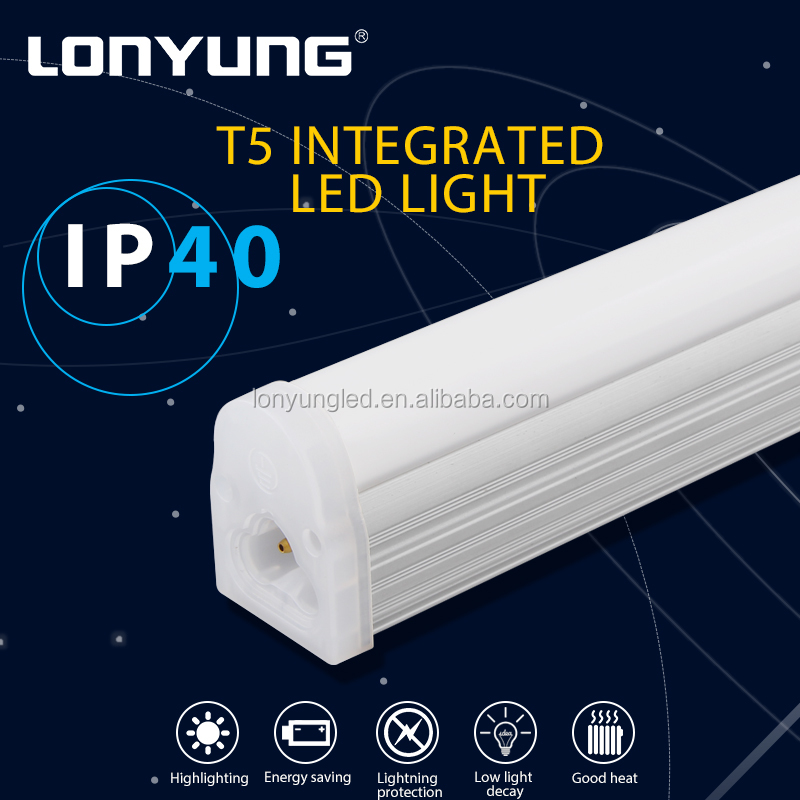Suspending / surface mounted 2700-6500K 700-3000lm Portfolio light fixtures integrated t5 fluorescent lamp