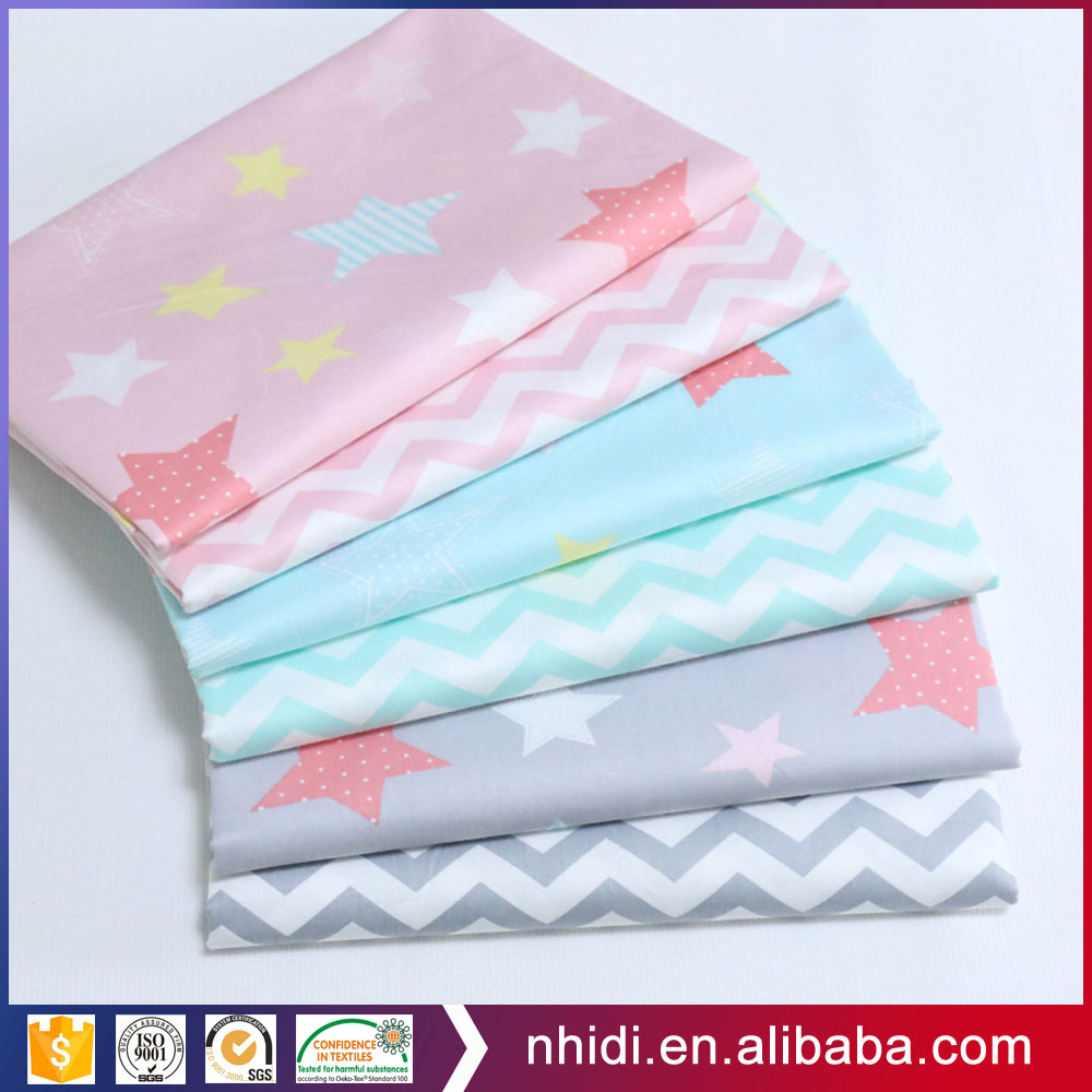 Factory supply soft kids 100 cotton poplin bedsheet printing fabric