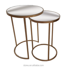 Simple style home furniture living room metal round bed side table
