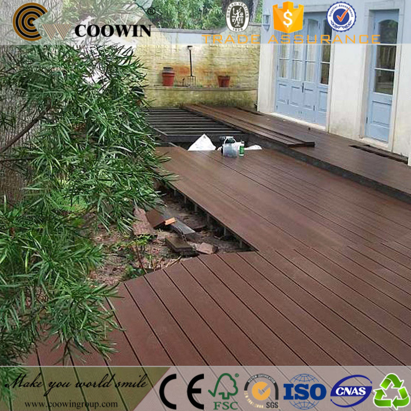 Outdoor wpc composite oak timber hardwood decking