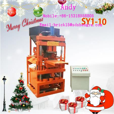 China Factory Price Hot-selling Automatic SY1-10 clay brick making machine,low investment fly ash brick making machine in Sudan
