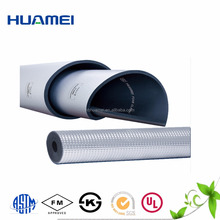 building facing materials aluminium foil black nbr roll rubber foam insulation sheet