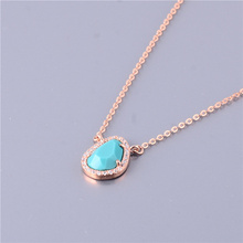 Special Design Irregular Shape CZ Paved With Blue Stone Pendant