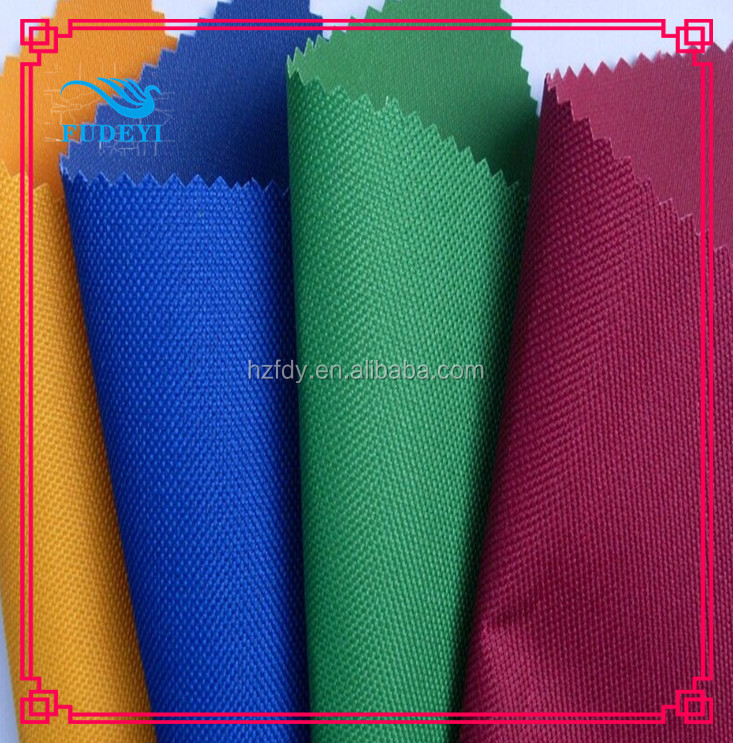 cheap China textile 100% polyester 600D oxford bag fabric pvc&pu coated wholesale luggage fabric