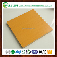 Indoor Usage and First-Class Grade Melamine MDF Board / Laminated MDF Sheet / Melamine MDF