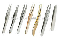 gold color stainless tweezer TW019