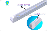 NEW Integrated 2.4m 8ft 36W Led T8 Tube Lights SMD2835 Leds Warm Cool White Frosted & Transparent Cover 85-265V