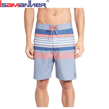 Men's surf board shorts brand waterproof pockets swim trunks