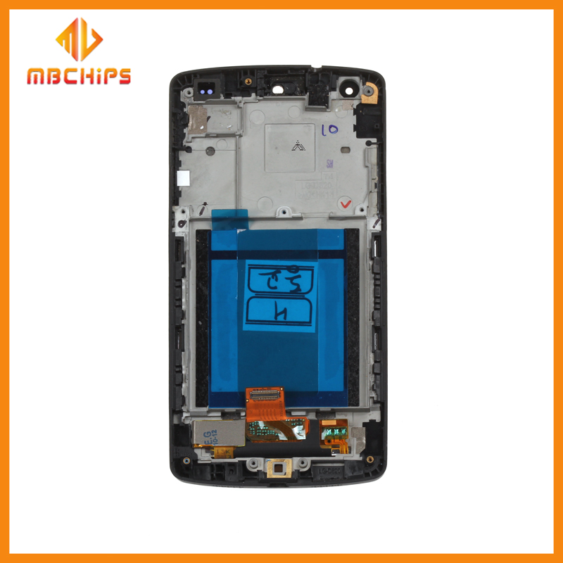 Wholesale cell phone spare parts lcd display lcd touch glass screen digitizer with frame for LG Nexus 5 D820