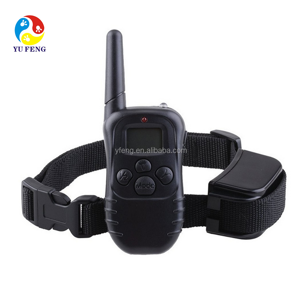 1 for 1 Remote Pet Training Collar With LCD Display Vibration Electronic Shock Bark Stop Training
