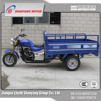 ABS cabin three wheel motorcycle LZSY250ZH cargo tricycle with open box