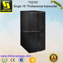 "Dual 18"" Professional Outdoor Subwoofer Speaker Box"