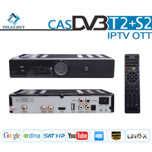 High quality 1080p Cloud IPTV DVB S2 T2 Combo Boxes