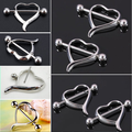 Stainless steel nipple ring heart shaped body piercing jewelry wholesale