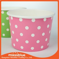 Paper Frozen Yogurt Cup With Plastic Dome Lid