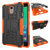 For Lenovo Vibe P1M Case, PC + TPU Shockproof Heavy Duty Rubberized Kickstand Mobile Phone