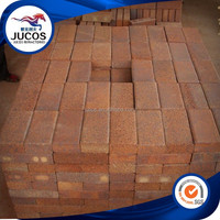 Brown clay paving brick, square pavers, garden paver